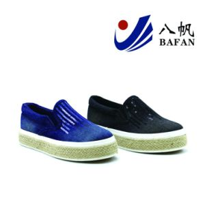 Washed Demin Upper Canvas Shoes Bf1701490 pictures & photos