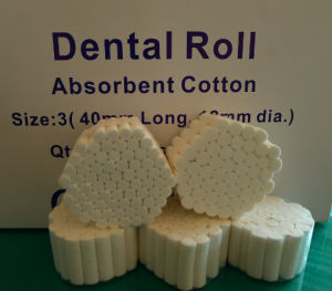 15X38mm China100% Absorbent Dental Cotton Roll with Ce and ISO Approved pictures & photos