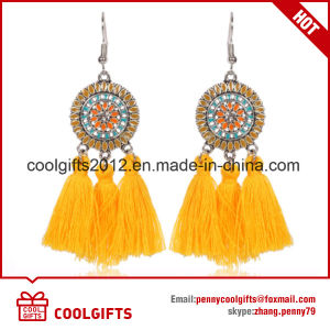 Fashion Multicolor Round Ladies Tassel Earrings pictures & photos