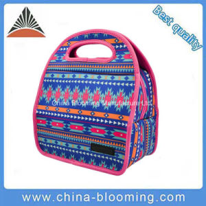 Waterproof Personalized Neoprene Insulated Lunch Bag with Rubber Zipper pictures & photos