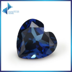 Free Sample 5*5mm Heart Corundum Gemstone Bead 34# Blue Ruby Stone pictures & photos
