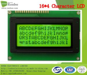 16X4 Character LCM Screen, MCU 8bit, Stn Y-G Blue LCD Panel, FSTN COB LCM pictures & photos