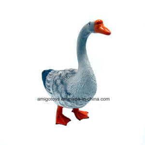 5-Inch High Imaitation Farm Animal Goose Toy in PVC for Kids as Gift pictures & photos