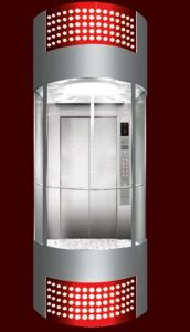 Sightseeing Passenger Lift with German Control System pictures & photos