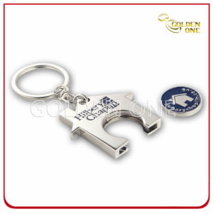 Personalized Zinc Alloy Metal Trolley Token Coin Key Holder pictures & photos
