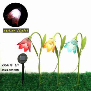 Flowering Shrubs Garden Decoration W. Solar Power Metal Stake Craft pictures & photos