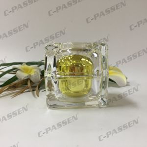 15g 30g 50g Crystal Gold Acrylic Cream Jar for Cosmetic Packaging (PPC-ACJ-124) pictures & photos