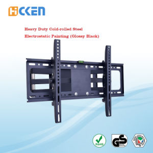 China Manufacturers Wholesale 120 Degree Swivel Full Motion Doubel Extending Arms Articulating Cantilever LED LCD TV Bracket pictures & photos