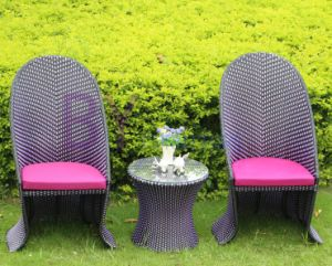 Outdoor Dining Room PE Rattan Furniture with High Back Chairs pictures & photos