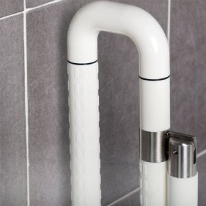 Handle Bar for Disabled/ Toilet Security Nylon Coating & Inner Stainless Steel Grab Bar, Fold-up Grab Rail pictures & photos
