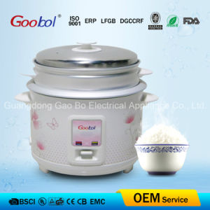 Rectangle Panel Straight Rice Cooker with Flower Housing 1.8L pictures & photos