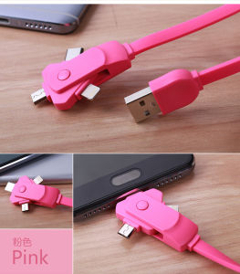 3FT Flat Noodle 3 in 1 Charging Cable for iPhone/Micro/Type-C pictures & photos