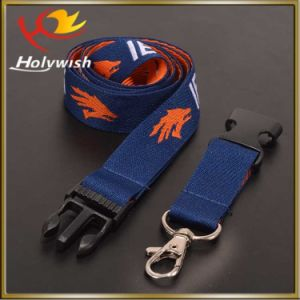 Jacquard Custom Polyester Printed Lanyard with Plastic Breakaway Buckle