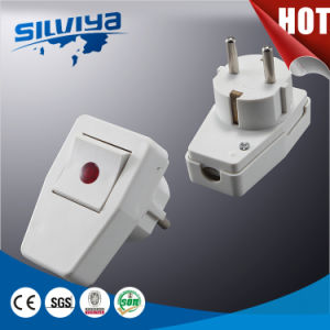 Germany Plug&Socket with Red Switch pictures & photos