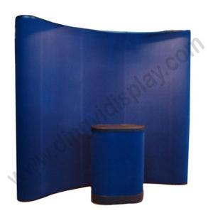 3X3 Curvy Shape Magnetic Pop up Display Stand with Fabric Panel pictures & photos