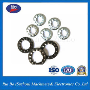 China Factory DIN6798j Internal Serrated Lock Washer Spring Washer Flat Washer pictures & photos