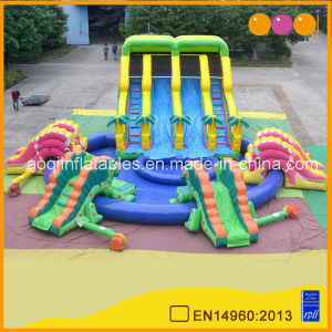 Dinosaur Giant Inflatable Water Slide with Big Inflatable Swimming Pool (AQ10104) pictures & photos