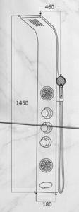 304 Stainless Steel Sapphire Wall Mount Shower Panel pictures & photos