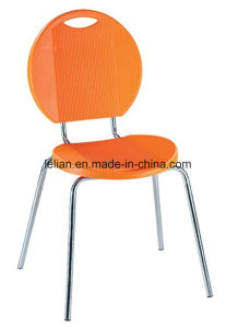 Colorful Plastic Stackable Dining Chair with Metal Frame (LL-0011A) pictures & photos