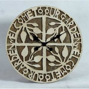 Country Style Metal and Wood Wall Clock pictures & photos