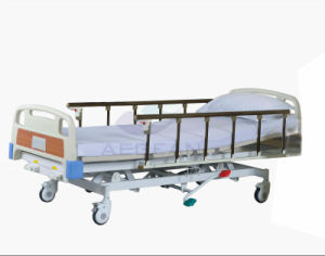 AG-Bmy001 Aluminim Alloy Handrails 3 Function Hydraulic Hospital Bed pictures & photos