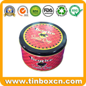 Round Metal Tin Biscuit Can for Dog, Pet Food Tin Boxes pictures & photos