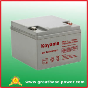 Good Quality Sealed SMF Hybrid Gel Battery 26ah 12V pictures & photos