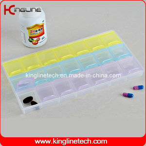 Plastic Pill Box with 21-Cases (KL-9051) pictures & photos
