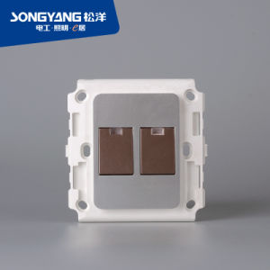 Flame Retardant PC Plastic 2gang Switch pictures & photos