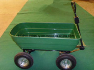 Garden Tipping Bucket Trailer& Dump Wagon Cart with Poly Tray (TC2135) pictures & photos