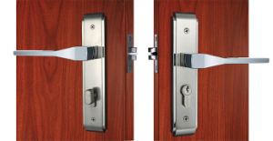 High Security Stain Nickel Zinc Alloy Mortise Lock Set Lock Residential Door Lock pictures & photos