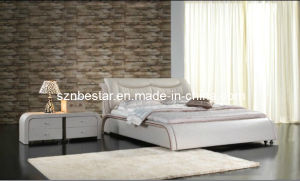 Simple Leather Soft Bed, Bedrrom Furniture pictures & photos