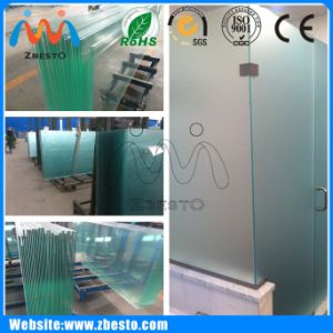 Wholesale Frameless Curved/Bent Tempered Curtain Wall Glass for Shower
