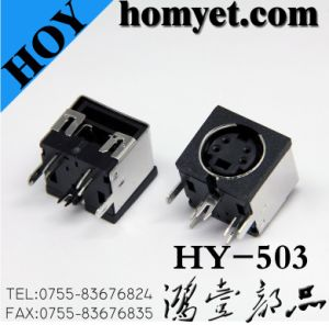DIN Connector with Four Needles for Wiring Equipment (HY-503) pictures & photos