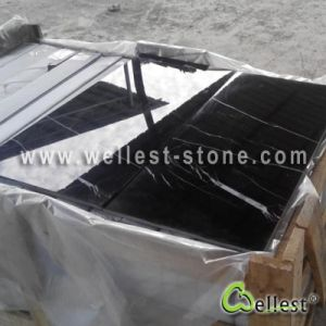 Black Marble Black Marquina Tiles pictures & photos