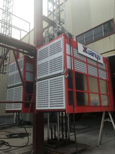 Sc120/120 Frequency Inverter Building Hoist for Lean Construction Site pictures & photos