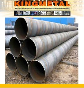 API 5L X52 Spiral Welded Steel Piling Pipe pictures & photos