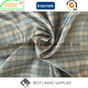 100% Polyester Two Tone Check Ripstop Pattern Men and Women′s Garment Lining pictures & photos