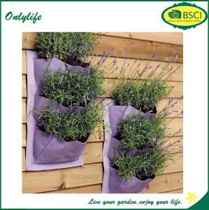 Onlylife 2016 Hot Sale Felt Mini Decrocrative Hanging Vertical Wall Planter/Felt Garden Planter Bag pictures & photos