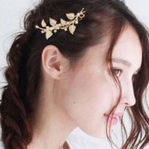 Crystal Gold Plated Leaf Small Star Sun Hairpin pictures & photos