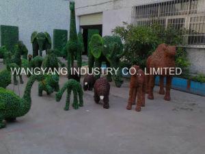 Garden Decor Fake Grass Natural Green Sculpture of Elephant pictures & photos