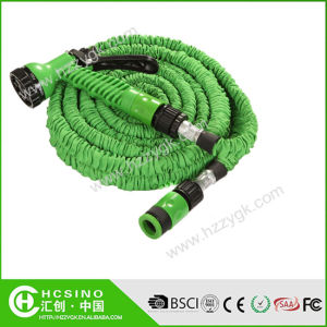 Expanding Garden Water Hose Holder+Plastic Spray Nozzle+Quick Clips