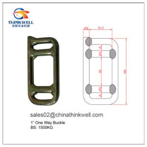 High Quality Welded One Way Lashing Buckle pictures & photos