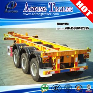 3 Axles 40FT 45FT Container Skeleton Semi Trailer for Philippines pictures & photos