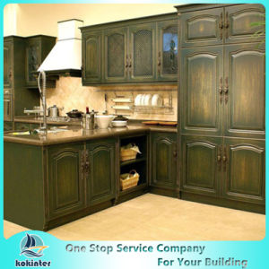 New Design China Soild Wood Kitchen Cabinet Second Modren pictures & photos