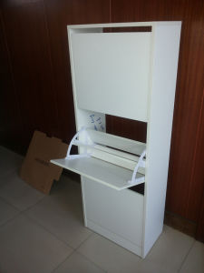 Shoe Rack Made in Particle Board with Melamine pictures & photos