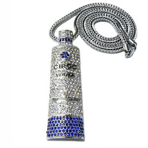 Iced out Ciroc Platinum Finish Pendant Necklace W-Nw630