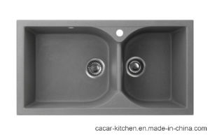 CACAR Modern Durable Granite Material Kitchen Sink (CCL-920L) pictures & photos