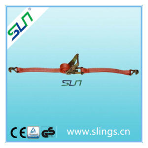 1t*25mm 5m Ratchet Tie Down with Double J Hook pictures & photos