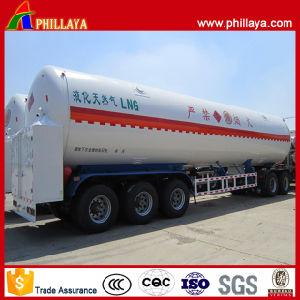 BPW Tri-Axle Cryogenic Liquid Transport LNG Tank Trailer pictures & photos